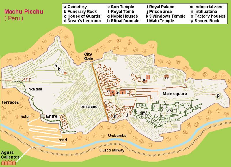 Machu Picchu Map